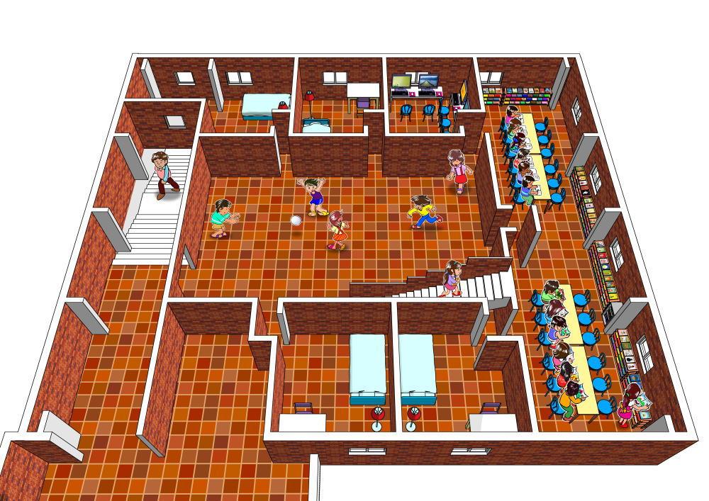 ひろしまハウス2階パース